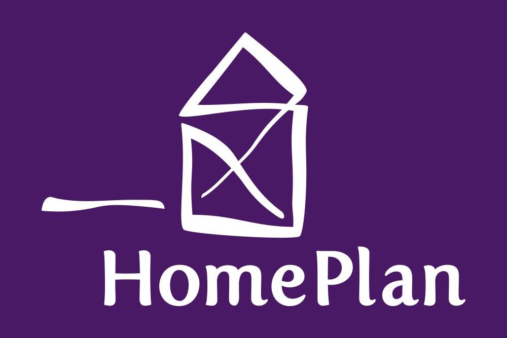 HomePlan logo wit