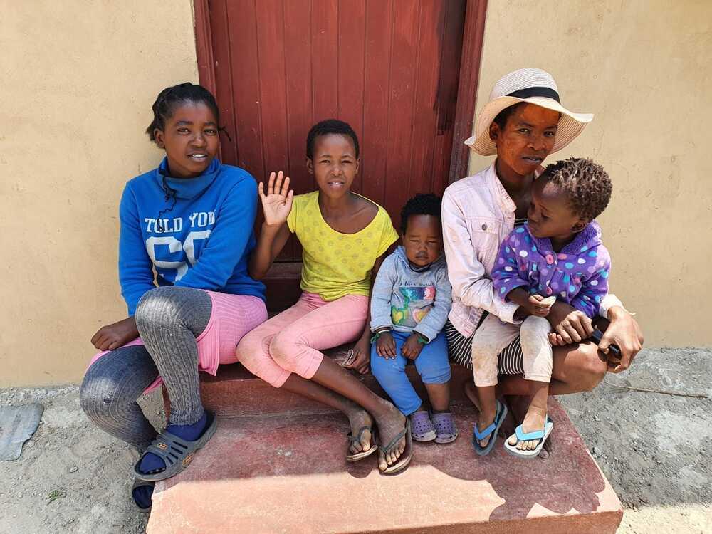 De familie Shange uit Thwaka, Zuid-Afrika